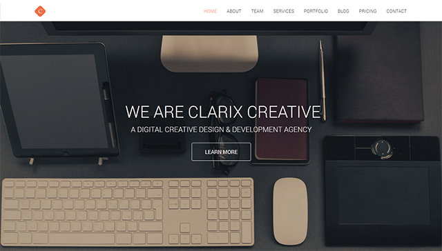 Clarix - Creative Agency & Portfolio Wordpress Theme