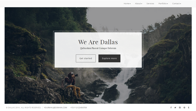 Dallas - Creative/Photography Template